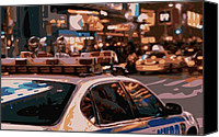 New York City Police Canvas Prints - New York Cop Car Color 16 Canvas Print by Scott Kelley