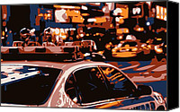 New York City Police Canvas Prints - New York Cop Car Color 6 Canvas Print by Scott Kelley
