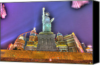 Heart Plaza Canvas Prints - New York in Las Vegas Canvas Print by Nicholas  Grunas