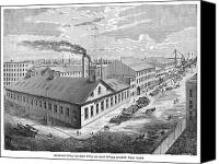 Ironworks Canvas Prints - New York: Iron Works, 1876 Canvas Print by Granger