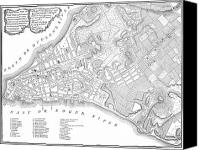 Manhattan Map Canvas Prints - New York Map, 1775 Canvas Print by Granger