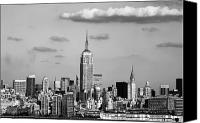 Empire Photo Canvas Prints - New York New York Canvas Print by John Rizzuto