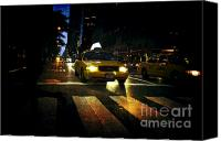 City Streets Photo Canvas Prints - New York Night Canvas Print by Sabine Jacobs