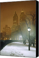 Lamppost Canvas Prints - New York Nocturne Canvas Print by Max Ferguson