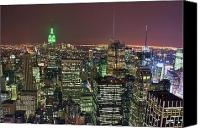 Empire Photo Canvas Prints - New York Skyline Canvas Print by David Gardener