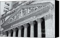 Manhattan Canvas Prints - New York Stock Exchange II Canvas Print by Clarence Holmes