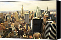 City Streets Canvas Prints - New York Canvas Print by Svetlana Sewell