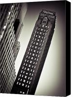Big Apple Photo Canvas Prints - New York Time Canvas Print by David Bowman