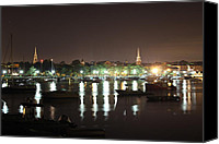 Rick Blood Canvas Prints - Newburyport At 4 AM Canvas Print by Rick  Blood