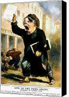 Herald Canvas Prints - Newsboy Shouting, 1847 Canvas Print by Granger