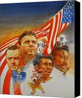 Magazine Cover Mixed Media Canvas Prints - NFL Hall Of Fame 1984 Game Day Cover Canvas Print by Cliff Spohn
