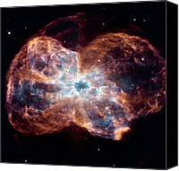 Planetary Canvas Prints - Ngc 2440 Planetary Nebula, Hubble Image Canvas Print by Nasaesastsci