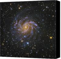 Luminous Canvas Prints - Ngc 6946, Also Known As The Fireworks Canvas Print by Robert Gendler