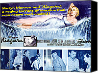 1953 Movies Canvas Prints - Niagara, Marilyn Monroe, 1953 Canvas Print by Everett