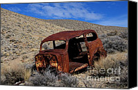 Rusted Cars Canvas Prints - Nice Body Canvas Print by Bob Christopher