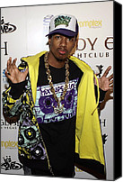 Complex Canvas Prints - Nick Cannon At Arrivals For Nick Cannon Canvas Print by Everett