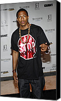 Half-length Canvas Prints - Nick Cannon At Arrivals For Rocawear Canvas Print by Everett