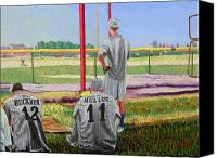 Baseball Painting Canvas Prints - Nick Muller Canvas Print by Stan Hamilton