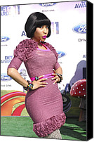 Nicki Minaj Canvas Prints - Nicki Minaj At Arrivals For 2011 Bet Canvas Print by Everett