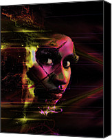 Nicki Minaj Canvas Prints - Nicki Minaj Dark Abstract Canvas Print by Anibal Diaz