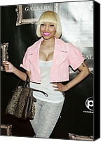 Nicki Minaj Canvas Prints - Nicki Minaj In Attendance Canvas Print by Everett