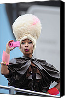 Nicki Minaj Canvas Prints - Nicki Minaj In Attendance For Casio Canvas Print by Everett