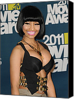 Nicki Minaj Canvas Prints - Nicki Minaj In The Press Room For The Canvas Print by Everett