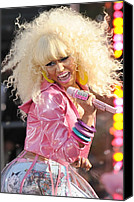 Nicki Minaj Canvas Prints - Nicki Minaj On Stage For Good Morning Canvas Print by Everett