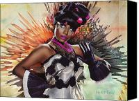 Nicki Minaj Canvas Prints - Nicki Minaj Splatter by GBS Canvas Print by Anibal Diaz