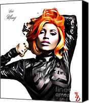Nicki Minaj Canvas Prints - Nicki Minaj Canvas Print by The DigArtisT