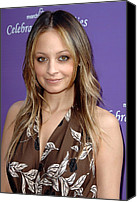 March Canvas Prints - Nicole Richie At Arrivals For March Canvas Print by Everett