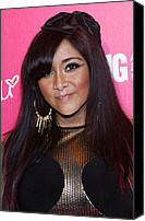 James Atoa Canvas Prints - Nicole Snooki Polizzi At Arrivals Canvas Print by Everett