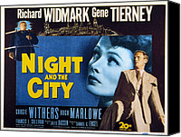 1950 Movies Canvas Prints - Night And The City, Gene Tierney Canvas Print by Everett