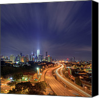 Long Street Canvas Prints - Night At  Kuala Lumpur Canvas Print by Zackri Zim