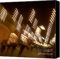 Urban Theme Canvas Prints - Night At The Mall Canvas Print by Ben and Raisa Gertsberg