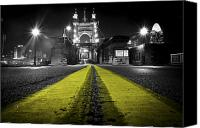 Bw Canvas Prints - Night Bridge Canvas Print by Keith Allen