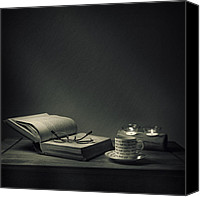 Reading Canvas Prints - Night Cap Canvas Print by Ian Barber