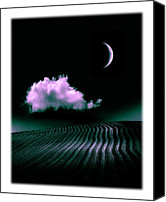 Ploughed Canvas Prints - Night Fantasy Canvas Print by Mal Bray