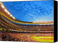 Ballpark Canvas Prints - Night Game Canvas Print by Heidi Hermes