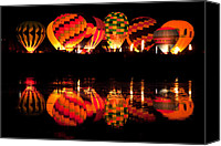 Hot Air Balloon Canvas Prints - Night Glow Canvas Print by Tom Cuccio