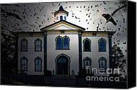 Horror Movies Canvas Prints - Night of The Birds . 7D12487 Canvas Print by Wingsdomain Art and Photography