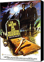 1960s Poster Art Canvas Prints - Night Of The Living Dead, Spanish Canvas Print by Everett