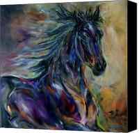 Williams Painting Canvas Prints - Night Rider Canvas Print by Diane Williams