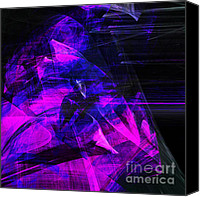 Complex Canvas Prints - Night Rider . Square . A120423.936.693 Canvas Print by Wingsdomain Art and Photography