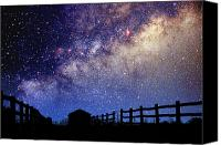 Starry Canvas Prints - Night Sky Canvas Print by Larry Landolfi and Photo Researchers