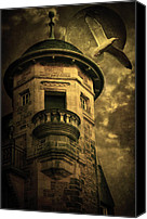 Photomanipulation Canvas Prints - Night Tower Canvas Print by Svetlana Sewell