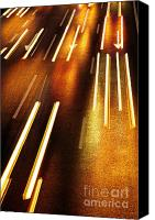 Moving Canvas Prints - Night Traffic Canvas Print by Carlos Caetano