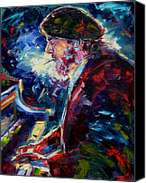 Blues Canvas Prints - Night Tripper Canvas Print by Debra Hurd