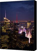 Times Square Photo Canvas Prints - Night View of New York Canvas Print by Hakon Soreide