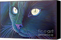 Animals Painting Canvas Prints - Night Vision Canvas Print by Brian  Commerford